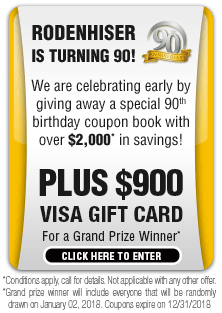 We are celebrating early by giving away a special 90th birthday coupon book with over $2,000* in savings!