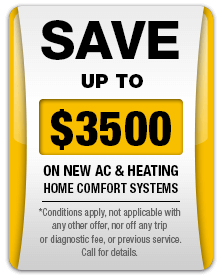 Save up to $3,500 off a new heating system